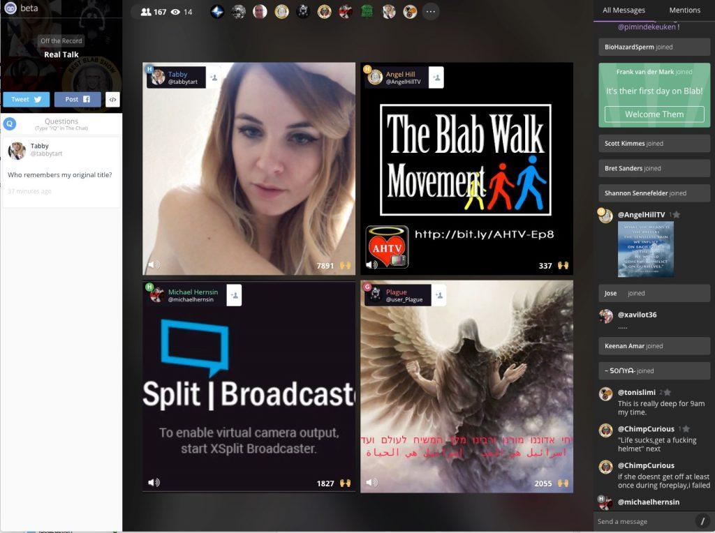 Blab, video messaging, group video messaging