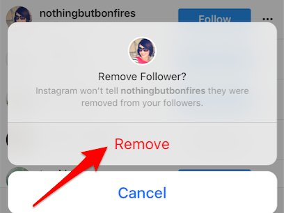 Remove followers